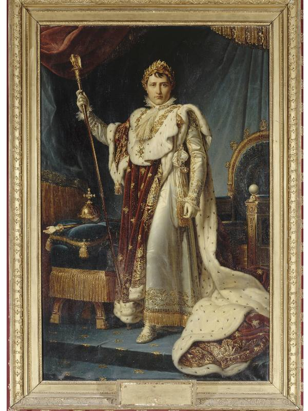 © Reunion des Musees Nationaux – Grand Palais François Gérard, Napoleone con gli abiti dell'incoronazione (Ajaccio, Palais Fesch-Musée des Beaux-Arts)