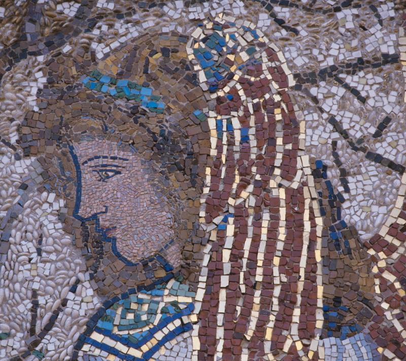 Cappella Giustiniani Bandini - particolare (mosaico A.Morani)