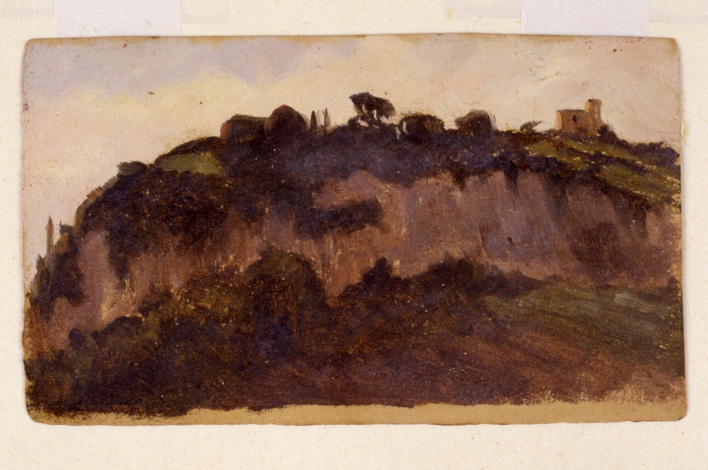 Diego Angeli, Monte Parioli 1891, olio su carta