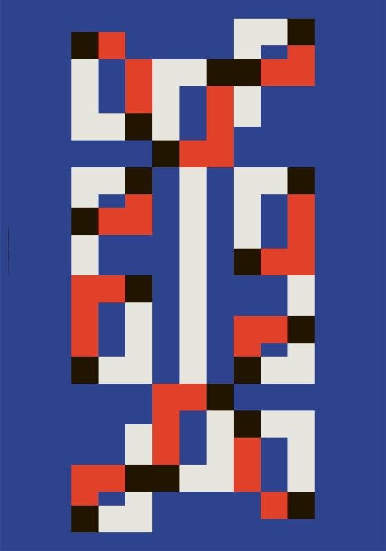 Leonardo Sonnoli, non vedere doppio, 2021 Composizione tipografica / Typograhic composition Collezione dell'autore