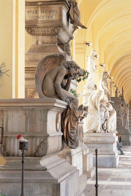 Quadriportico - arcata destra - tomba Zonca (Giulio Monteverde)