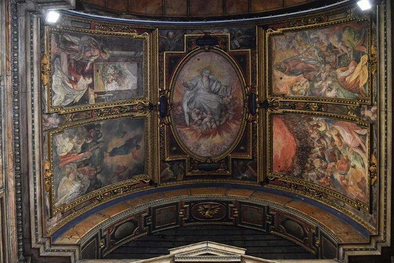 Cappella dell'Annunciazione gli inserti della volta