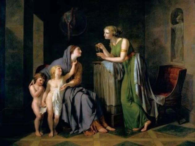 Cornelia Madre dei Gracchi mostra i suoi due figli, Philipp Friedrich Hetsch, Staatgalerie, Stoccarda
