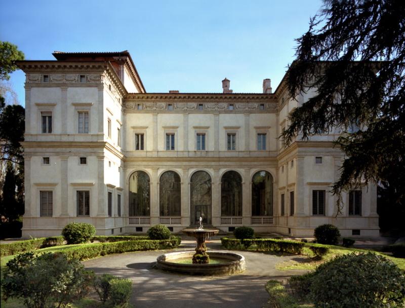 Villa Farnesina, facciata nord