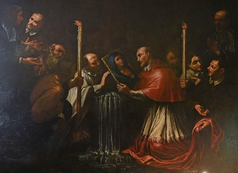 Il Card. Capocci recupera l'immagine della Vergine