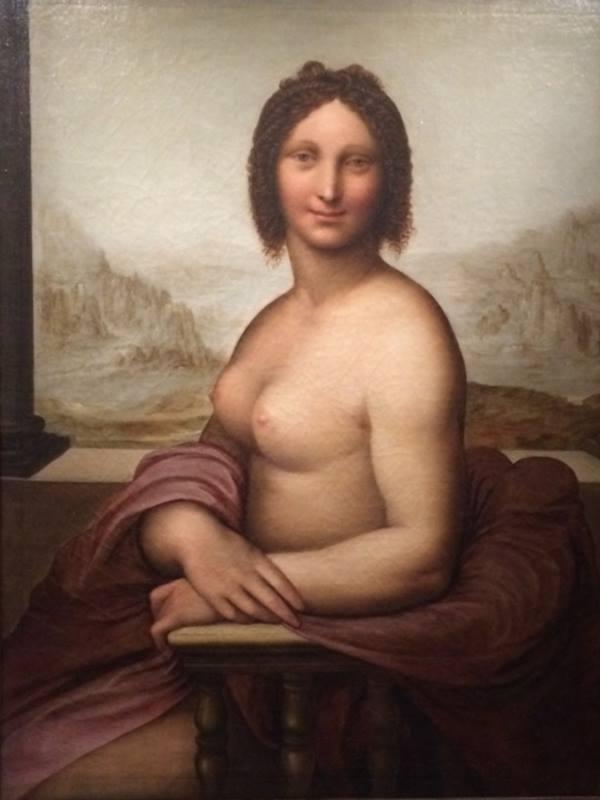 La Gioconda nuda, Anonimo, XVI sec. ©Fondazione Primoli