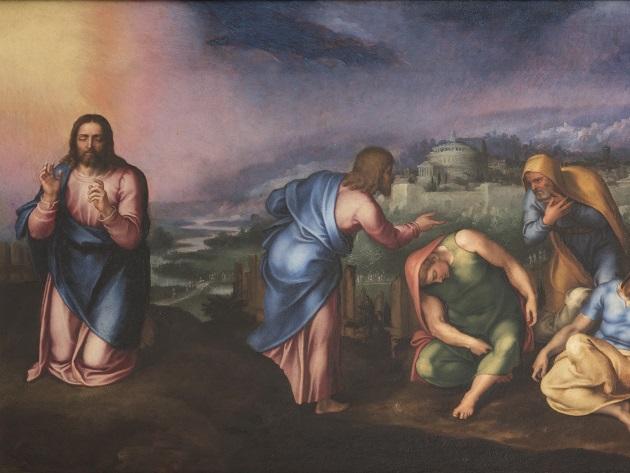 4_Marcello Venusti, L'Orazione nell'orto, 1545-60 olio su tavola, cm 53x76  Roma, Gallerie Nazionali Barberini Corsini