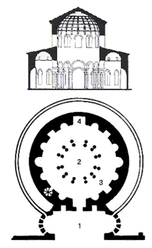 Mausoleo di Santa Costanza - Planimetria