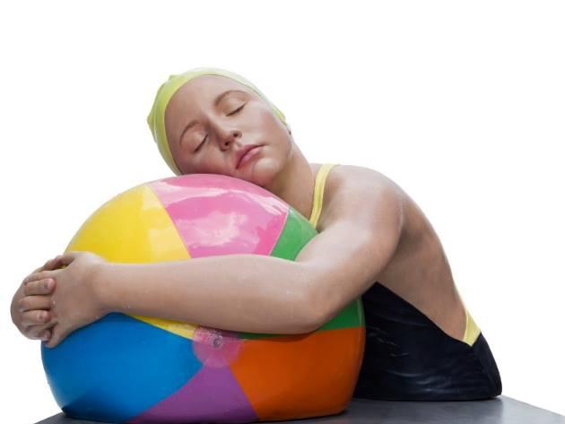 Monumental Brooke with beach ball - Carol A. Feuerman