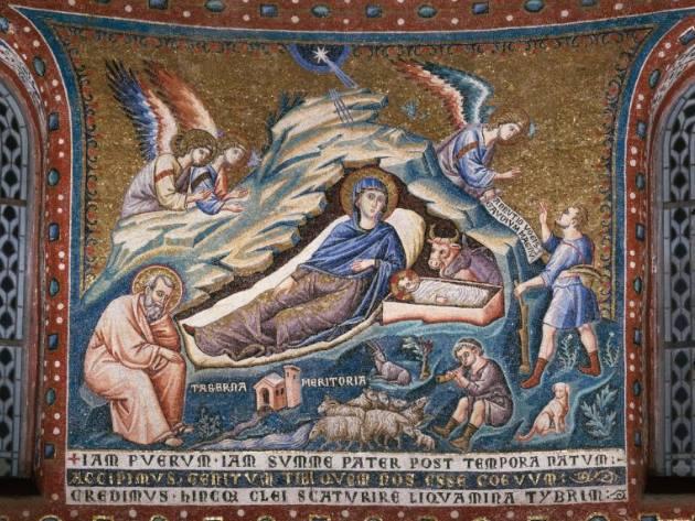 Natività - Pietro Cavallini ph Basilica di Santa Maria in Trastevere Official Website