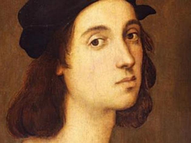 Raffaello Sanzio, Autoritratto, 1504-1506, particolare