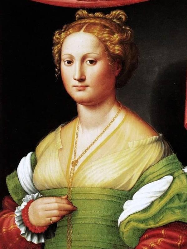 Ritratto di gentildonna (Vannozza Cattaneo), Innocenzo Francucci da Imola, Galleria Borghese