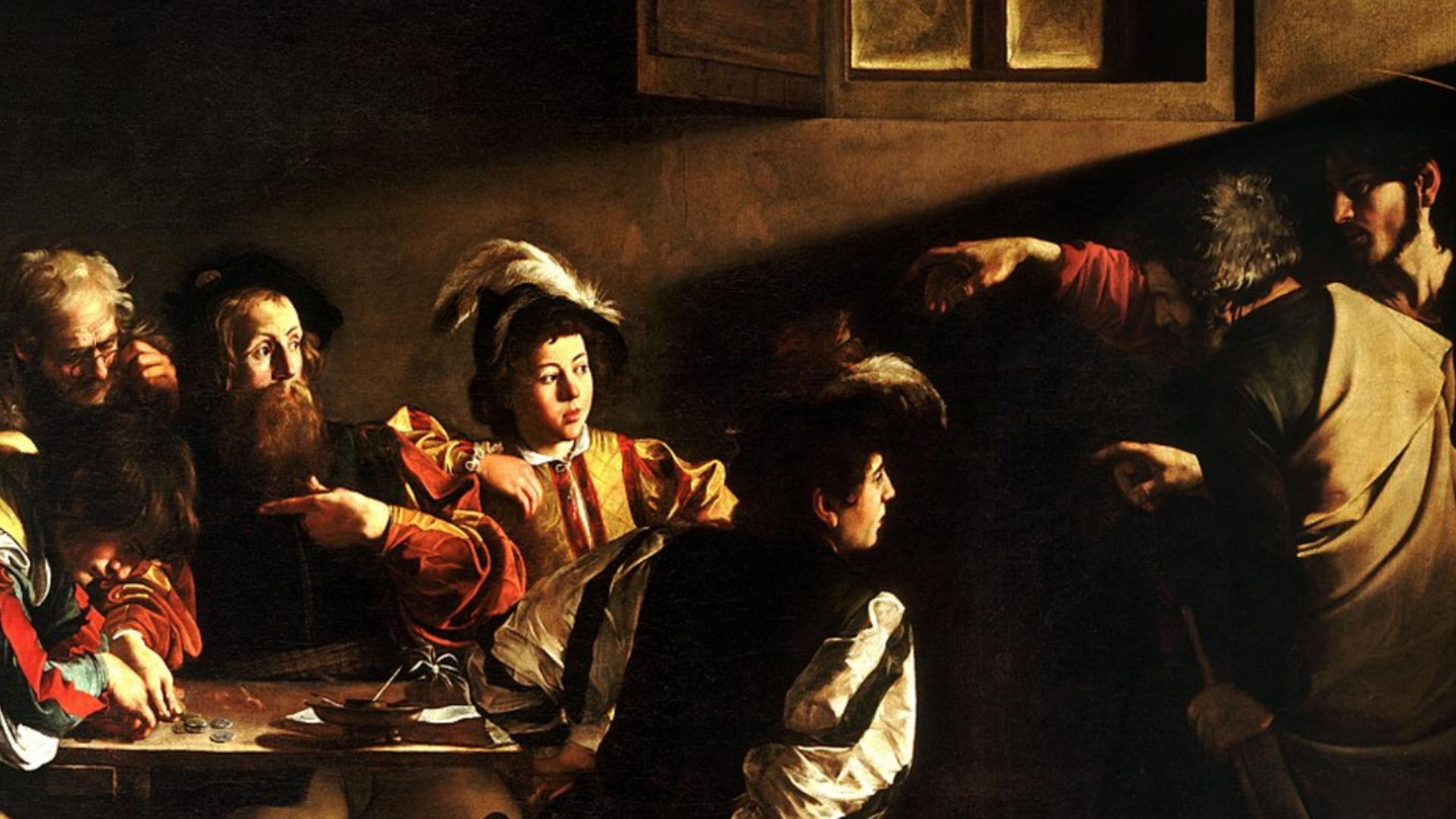 Chiesa di San Luigi dei Francesi, La vocazione di San Matteo, Caravaggio