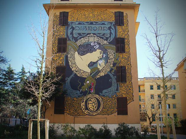 Street art diamond