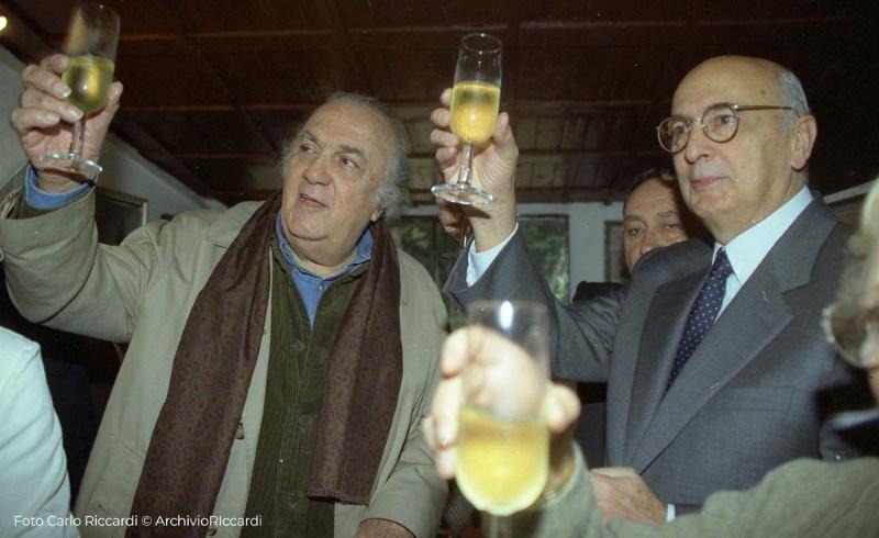 Federico Fellini e Giorgio Napolitano