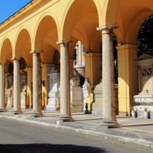 Quadriportico - panoramica - colonnato arcata sinistra