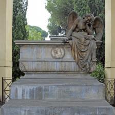 Quadriportico - Tomba Zonca - Angelo della notte (Giulio Monteverde)