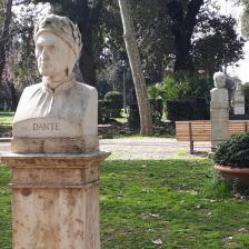 Busto di Dante, Passeggiata del Pincio