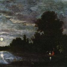 Filippo di Liagno, detto Filippo Napoletano - Bivacco notturno al chiaro di luna,.1614-1617 circa, Firenze, Fondazione di Studi di Storia dell'Arte Roberto Longhi
