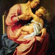 Madonna col Bambino - Artemisia Gentileschi, 1610 ca