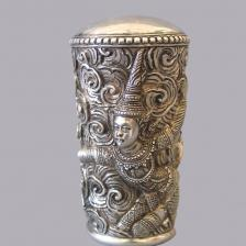 Manico di bastone in argento fine sec. XIX inizio sec. XX
