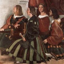 Palafrenieri pontifici ((particolare La Messa di Bolsena), Raffaello Sanzio, Palazzi Pontifici, Vaticano