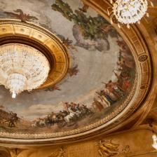 Soffitto del Costanzi, affresco di Annibale Brugnoli_ph Yasuko Kageyama