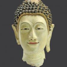 Testa Buddha stile ayutthaya sec. XVI-XVII