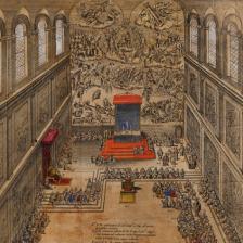 Cappella Sistina, Etienne Dupérac, 1578, © Victoria and Albert Museum, Londra