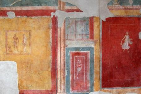 Casa di Diana, Insula di Giove e Ganimede ed Insula delle Pareti Gialle foto sito Parco di Ostia Antica