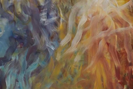 """""""Magical Thinking"""", 2016, olio su tela, 250x209cm, particolare"""