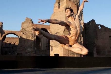 Roberto Bolle alle Terme di Caracalla ph. Luciano Romano