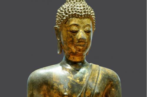 Dettaglio Statuina stile ayutthaya Buddha sec. XV