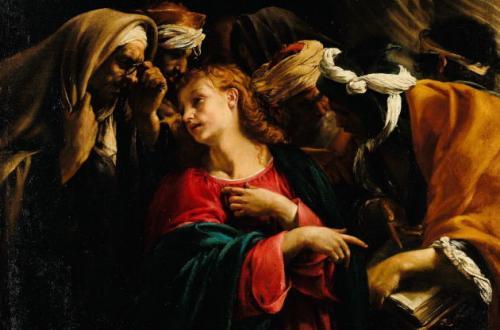 Orazio Borgianni, Cristo fra i dottori, Foto Account Ufficiale Facebook Palazzo Barberini