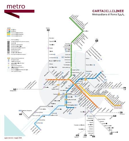 Carta linee metro
