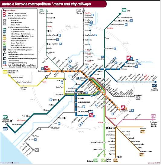 Cartina Roma Metro.Mappa Metro Turismo Roma